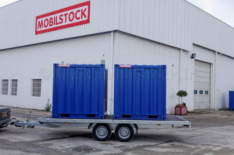 Remorque vl porte conteneurs la vente for Container alsace