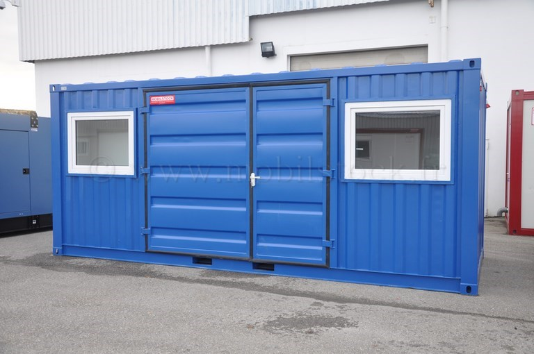 Conteneur porte lat rale isol lectricit for Container isole